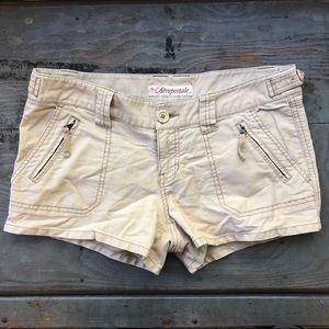 Aeropostale tan shorts  size 3/4